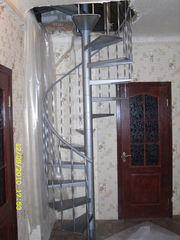 Лестницы винтовые,  маршевые,  каркасные.