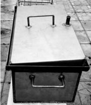 Коптильня коптилка с гидрозатвором горячего копчения двухярусная 2мм