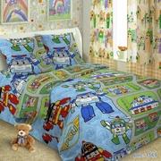 Детское постельное белье,  Комплект Робокар Поли