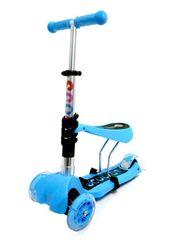 Музыкальный Самокат Scooter 3в1 голубой