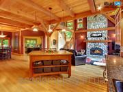 Отделка деревянного дома под ключ
