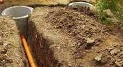 Копаем колоды, сливные ямы, подключение канализации к дому.