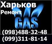 Ремонт газовых плит, колонок и котлов,  двух контурных,  турбированных на