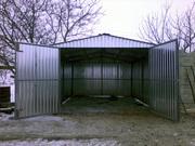 Изготовлю металлический гараж из профнастила