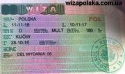Польская рабочая виза 180/180,  d05