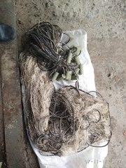 Сеть рыболовная посаженная из нити  25х1, 4 м, ячейка 40, новая
