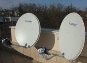 Комплект спутникового ТВ на 3 спутника продам недорого.