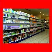 Стеллажи торговые для бытовой химии,  хоз товаров,  бытовых товаров